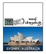 Australia Mini Post Card. Printable mini post cards for Australia. Make Girl Scout Thinking Day SWAPs with these. See all of our countries on MakingFriends.com