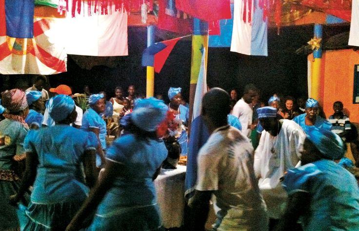 Rituel vaudou au lakou Gyode, dans le nord d'Haïti.