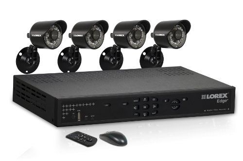 Lorex Edge+ LH324501C4 4-Channel Video Security DVR with Internet, 3G Mobile Viewing and 4 Security Cameras (Black) by Lorex. $300.00. From the Manufacturer                         The leading Edge in Video Security  Key Features  Connect from anywhere in the world, from any device Multi-channel remote monitoring on Mac Remote viewing on iPad and iPhone  Remote viewing on Blackberry and Windows Mobile Easy setup and installation Install it anywhere - ultra compact design Easy ...