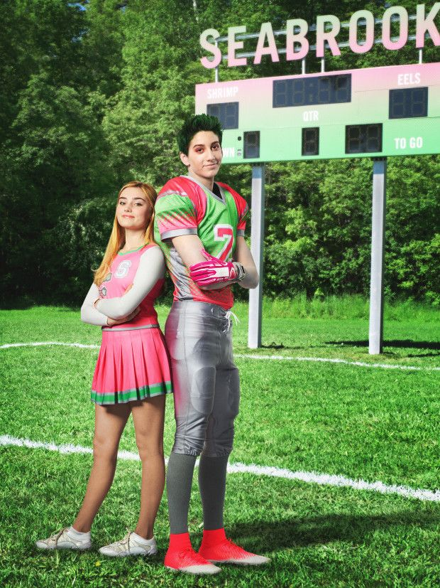 "Disney Channel's ""Zombies"" stars Meg Donnelly as Addison and Milo Manhiem as Zed. (Disney Channel/Bob D'Amico)"