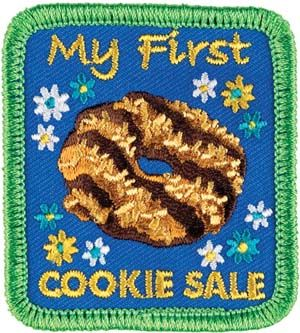 This patch is for girls who are participating in the Girl Scout Cookie Program for the first time. It can be purchased in GSCCC shops for 50 cents.