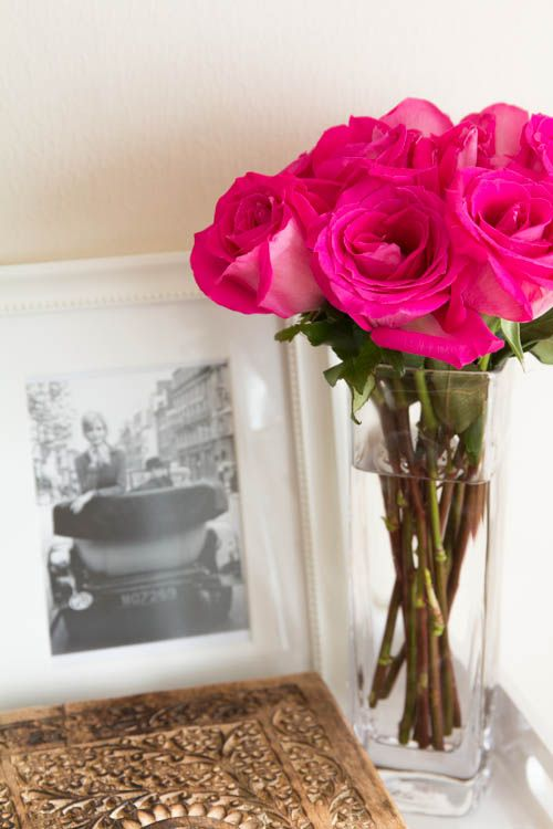 Around the Home: Colorful Fresh Flowers.