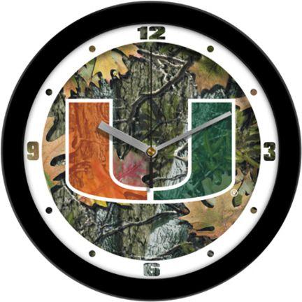 Miami Hurricanes 12 inch Camo Wall Clock