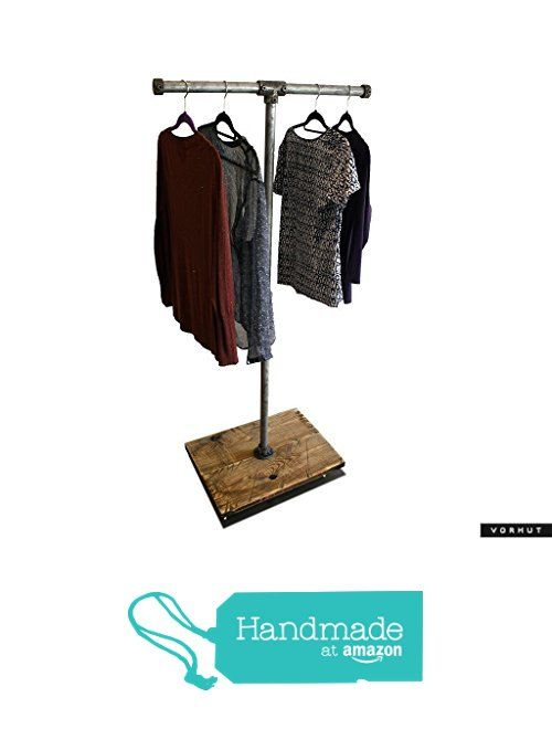 Vorhut 'Hadfield' - Vintage Industrial Scaffold Board T-bar Clothes Rail & Shoe Rack in Tarnished Metal from Vorhut https://www.amazon.co.uk/dp/B0762VWT7S/ref=hnd_sw_r_pi_dp_e3-0zbENV6WVR #handmadeatamazon