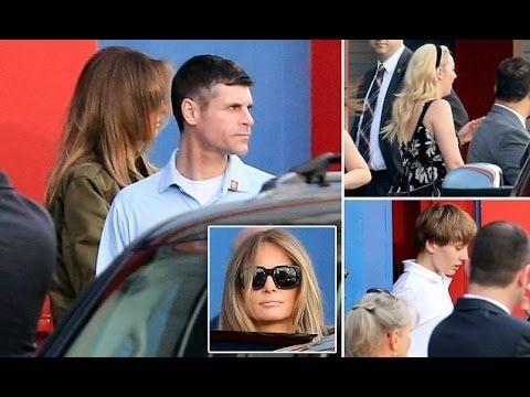 Family Outing? Melania Trump takes Tiffany Trump and Baron Trump to Bowlmor Lanes in New York City