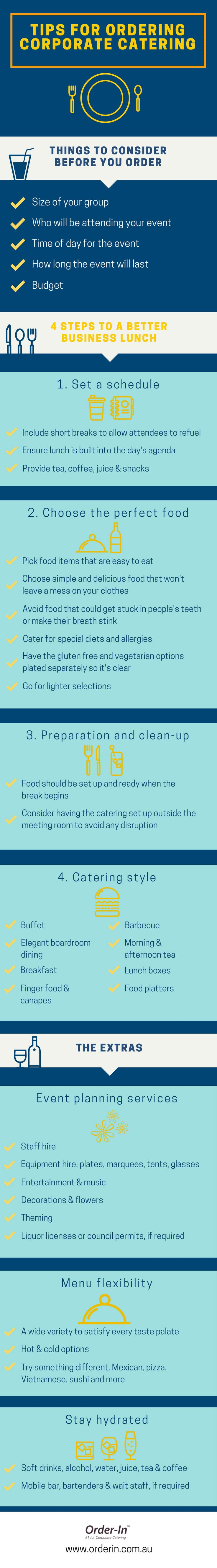 Corporate catering 101: tips for ordering office catering