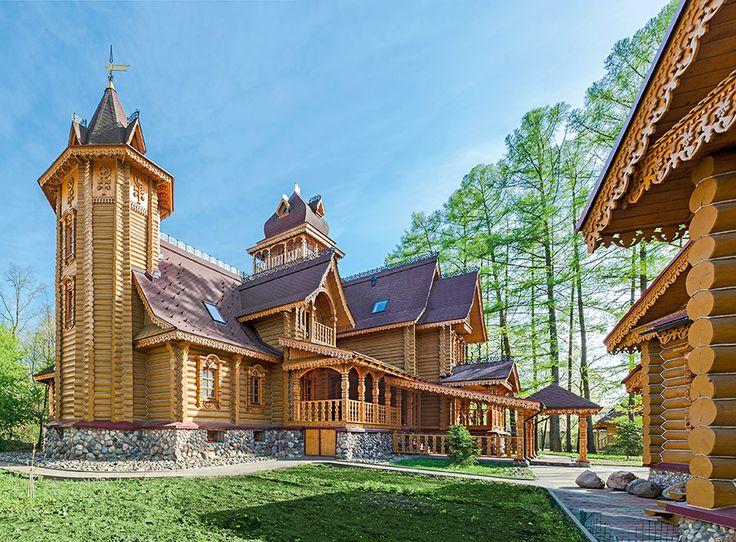 Дом из бревна в традициях русского деревянного зодчества | Деревянная архитектура | Журнал «Деревянные дома»