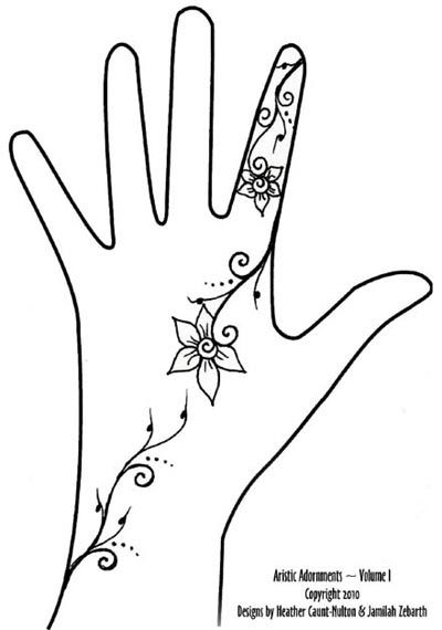 Vine henna (picture credit: artisticadornment.com)