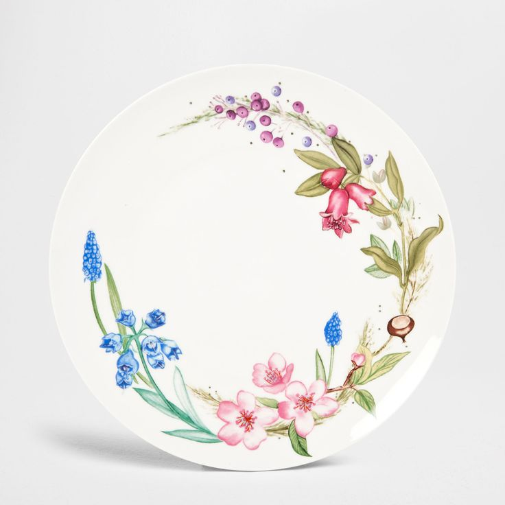 Wildflower Dinner Dish (Set of 4) - Dinnerware - Tableware | Zara Home