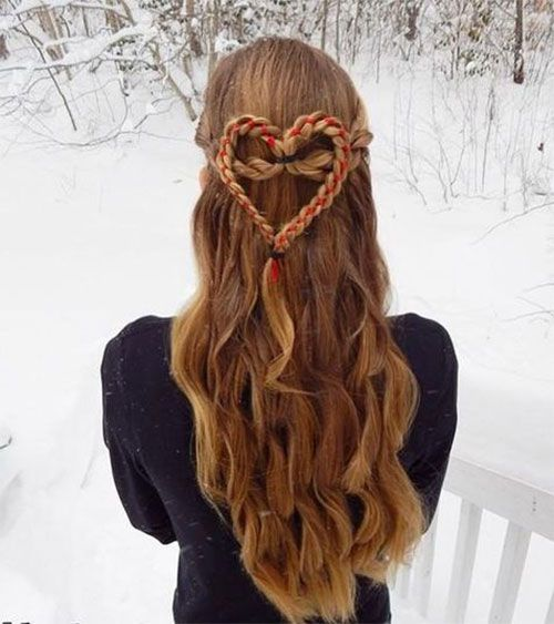 40 Cute And Romantic Hairstyles For Valentine's Day