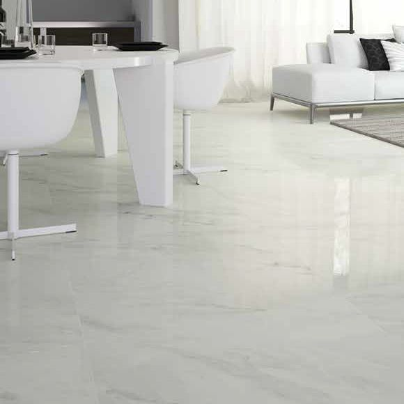 Elegance Calacatta Pol  Elegance allows you to create refined and tasteful settings as it interprets the natural graphics of snow white Calacatta marble.
