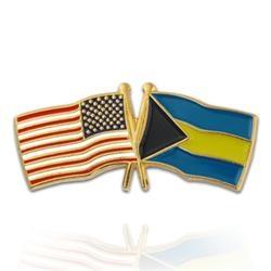 USA & Bahamas Flag Pin