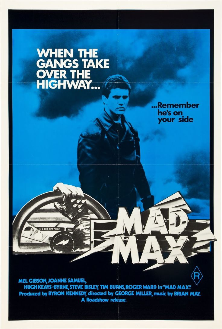 Mad Max, 1979 Australian one sheet poster Mad max, Mad