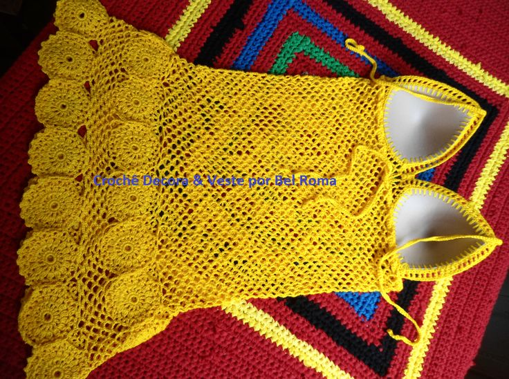Crochê Decora & Veste: Saída de Praia Amarela Passo a Passo
