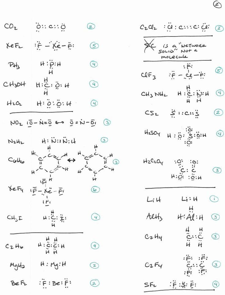 Lewis Structure Practice Worksheet 50 Lewis Structure ...