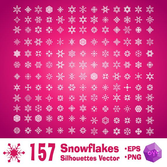 157 Snowflakes Christmas Silhouettes Vector 157 png 1 eps by oyedesign