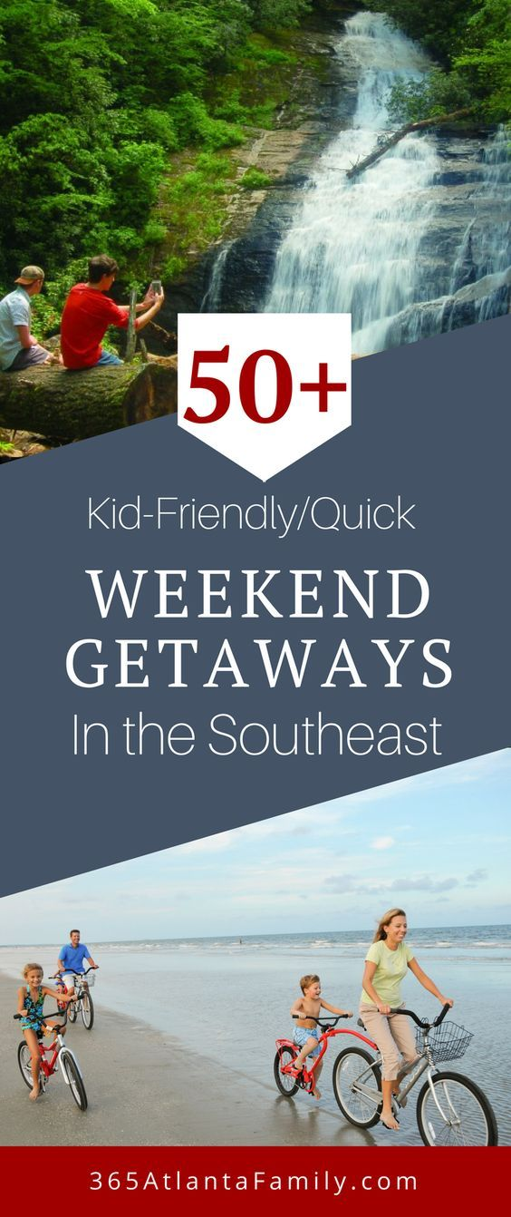 Need some quick weekend getaway ideas that will have you exploring the best the Southeast has to offer? How about 50+ family friendly places (or maybe leave the kids at home)