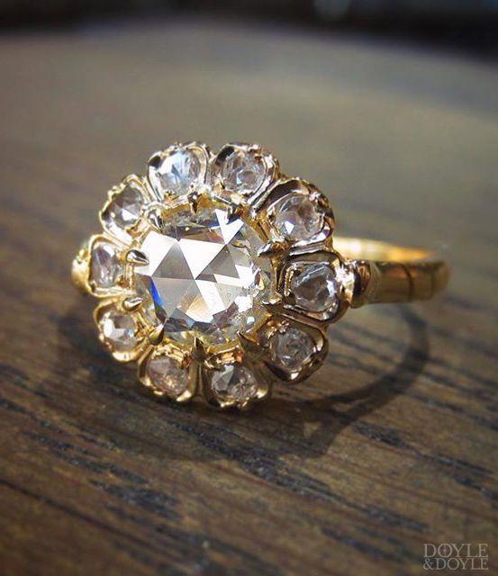 A Unique Twist On A Classic Vintage Rose Cut Diamond