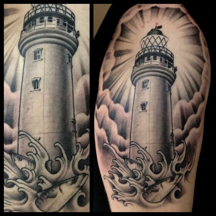lighthouse tattoo by james pool tattoos yup pinterest pools the o 39 jays and the lighthouse. Black Bedroom Furniture Sets. Home Design Ideas