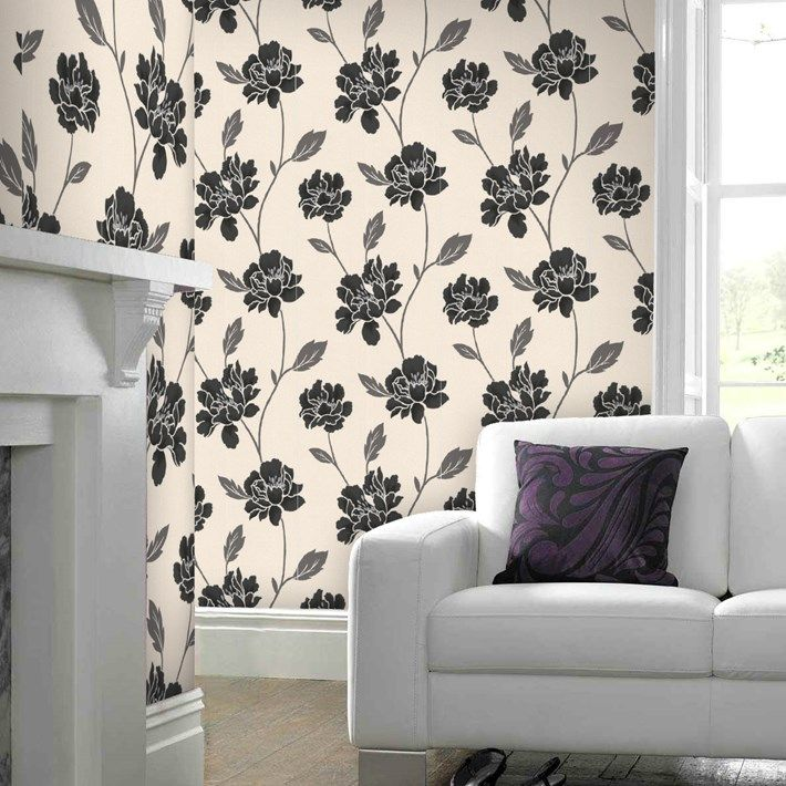 Peony Black White Flower Wallpaper   Floral Wall Coverings By Graham Brown Part 42