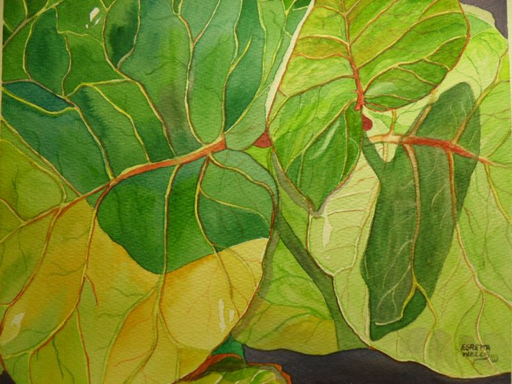 Watercolor Painting Techniques for Leaves | Paintings by ...