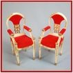 "Pair of Petite Princess Doll House Miniature #4413-1 Host Dining Chairs by Ideal 1964 3/4"" Scale Dollhouse Furniture"