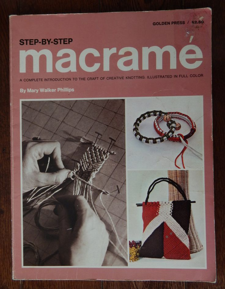 Macrame Pattern Book/ Step By Step Macrame A Complete Introduction To The Craft Of Creative Knotting/ room divider, handbag, belt, pillow by RedWickerBasket on Etsy