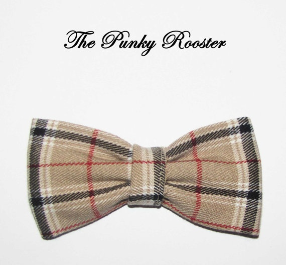Only 2 Left Plaid Bow Tie Navy Blue Plaid Bow Tie