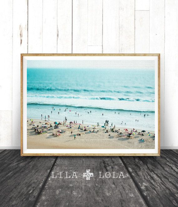 Beach Photo Decor Print People Ocean Water by LILAxLOLA on Etsy