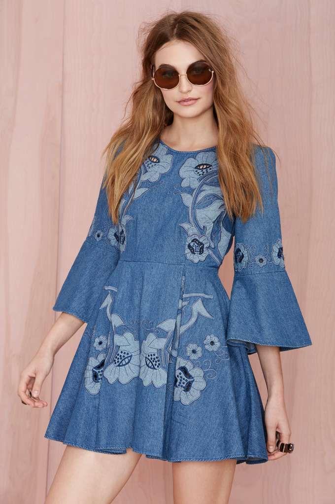 Alice McCall Paloma Denim Dress | Shop Dresses at Nasty Gal