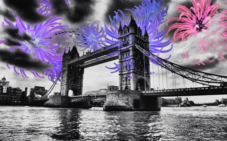 Sea in the Sky (London Bridge)  --  Surreal illustration on urban landscapes.  Photo by Nicholas Goodden - London © 2010 – 2017 | Cecile Vidican. All rights reserved.