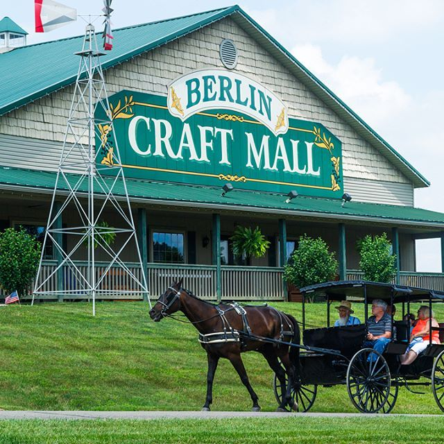 Berlin Village Craft Mall Is A One Stop Location Where You Can Do It All It S Part Of Schrock S Heritage Village Berlin Ohio Amish Berlin Ohio Amish Country