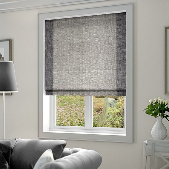 Image result for small living room with grey roman blinds