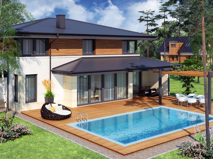 Projekat. Kuća sa bazenom CE (DOM DS1-16) | KucaSnova.com