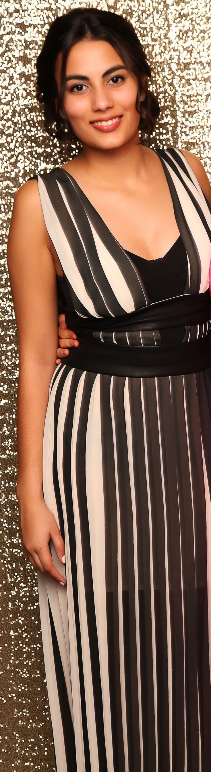 AULSS Ball 2014. Stunning in stripes! www.whitedoor.co.nz