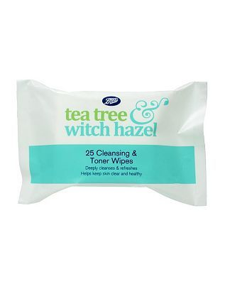 Boots Tea Tree and Witch Hazel Cleansing Wipes 12 Advantage card points. Boots Tea Tree and Witch Hazel Cleansing Wipes. Deeply cleanses and refreshes. Helps keep skin clear and healthy. FREE Delivery on orders over 45 GBP. http://www.MightGet.com/february-2017-1/boots-tea-tree-and-witch-hazel-cleansing-wipes.asp