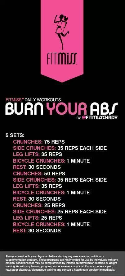 Burn up your Abs with this Abs Challenge! Re-pin now, check later.