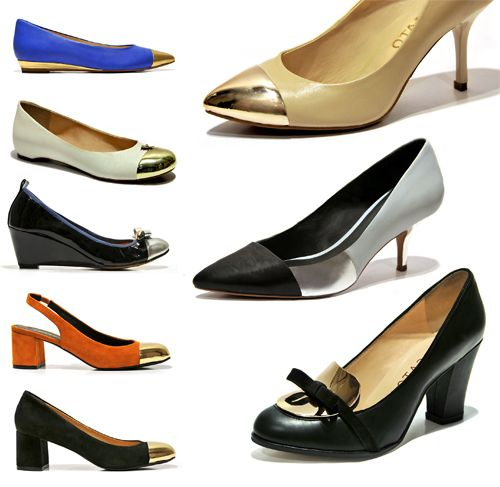 Remember last years trend on the toe cap shoes? Especially the metal toe  cap ones