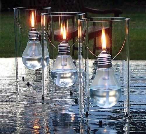 Edisun, lampada ad olio con tubo in vetro borosilicato, distribuito da Caraiba, 79 euro