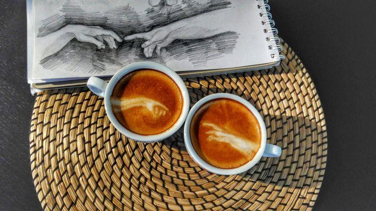 The creation de Michelangelo✌ #michelangelo #creation #barista  #coffee#coffeetime#latteart#coffeelovers##instacoffee#foodart#latteart#foodporn#latteartsg#latteartist#kawaiiwithperi#vegan#bonsoy#baristaespresso#latte#lattegram#lattestagram#coffeelover#coffeeoftheday#coffeegram#thirsty#talkaboutcoffee#masfotokopi#latteartgram#baristadaily#thetrendybarista#3dlatteart#coffeeshots#morningculture#barasian#coffeeeee#peoplebrewcoffee#InstaCoffeLovers