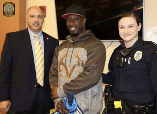 "A homeless South Carolina man is being praised by police for jumping into action to assist an officer in an arrest this week. He said Wednesday things were ""going to get ugly"" so something ""had to be done."""