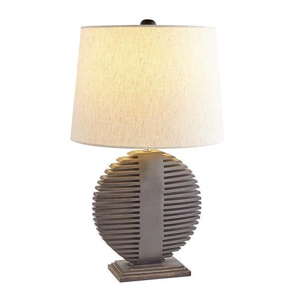 Oval Dark Wood Table Lamp Table Lamp Lamp Modern Table Lamp