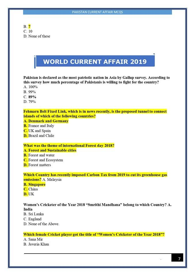 Latest Current Affair Read Thi Beneficial 2019 2018 Etc Q A Fo Past Paper English Language Learning Essay Affairs