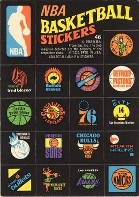Vintage basketball stickers