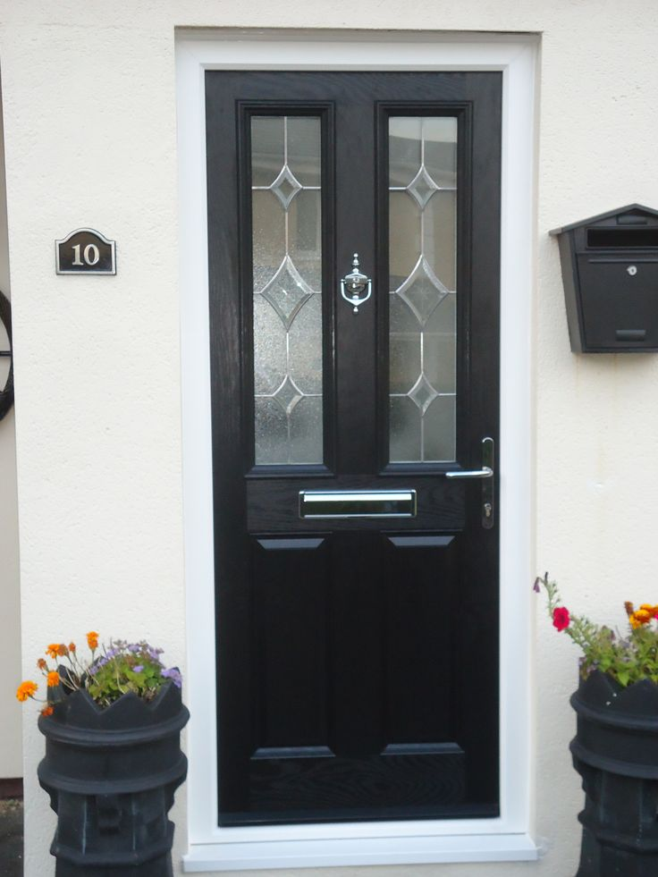 Midnight Black Composite Front Door By Cove Windows In