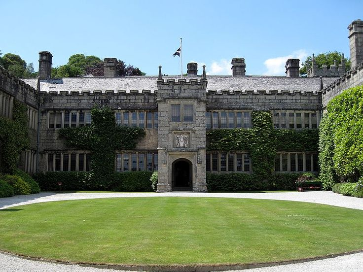 The Lanhydrock country estate - a historic Victorian mansion and formal gardens - in Cornwall England.