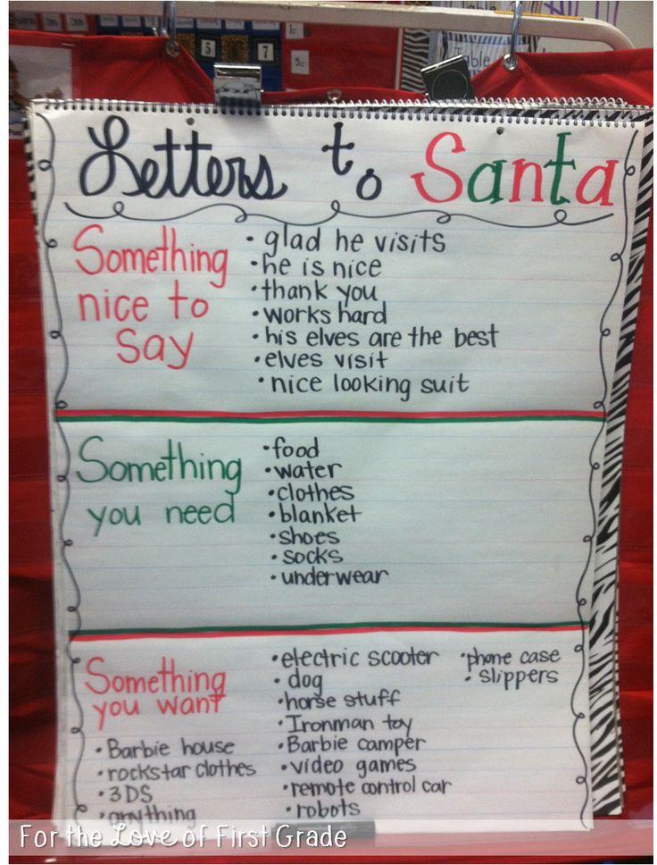 For the Love of First Grade: Dear Santa,