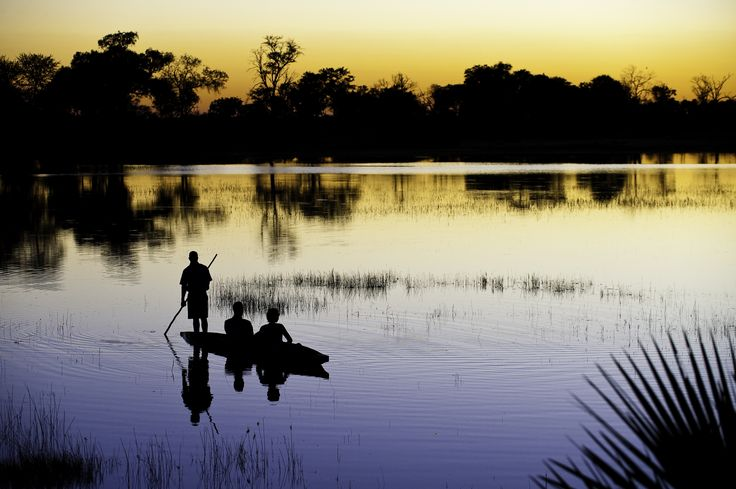 Activities at Xigera (pronounced 'Kee-jera') in #Botswana are predominantly water-based: glide silently through the reeds on a mokoro or sip on a sundowners on a motorboat cruise. #Africa #Travel #summer