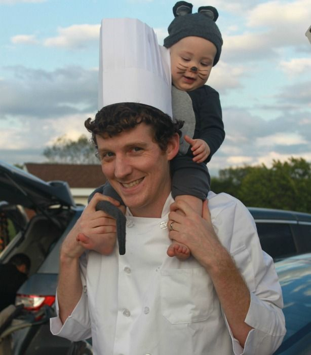 dad and baby dress in ratatouille halloween costumes - Halloween Costumes For Parents And Baby