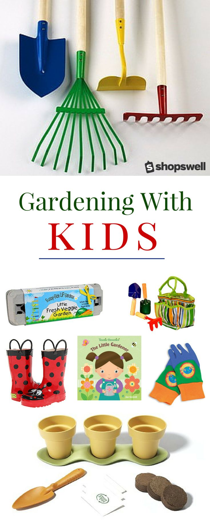 Ready to cultivate a love of gardening in your kiddos? From gardening tools, to books that teach kids about the growing process - here you'll find everything you need to encourage your kids to develop a green thumb of their own.